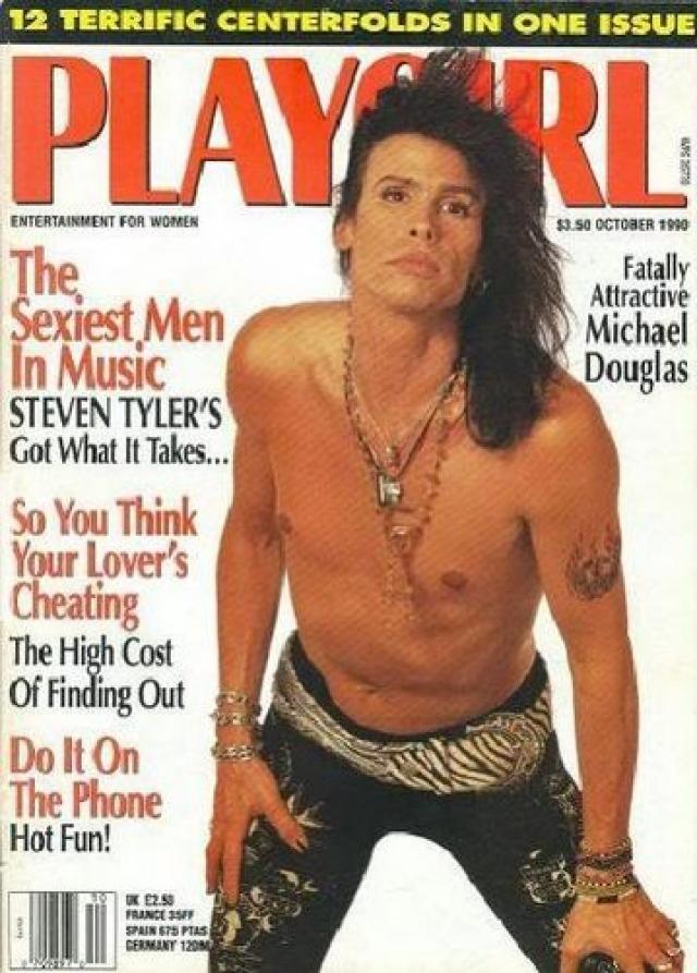 Рокер Стивен Тайлер . Октябрь 1990.