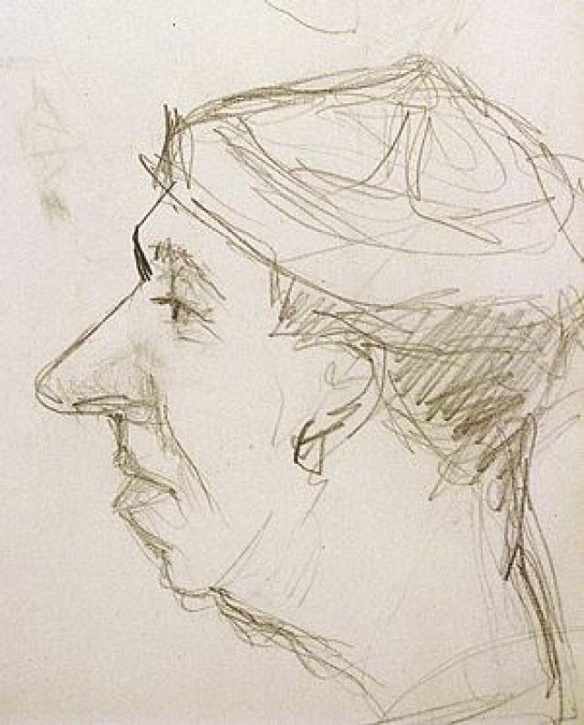 Георгий Вицин не испытывал страсти к богатству. Старался жить скромно. Прятался от назойливой публики в своей квартире или уединялся на природе с мольбертом. А рисовал он замечательно. На фото его шарж на Юрия Никулина.