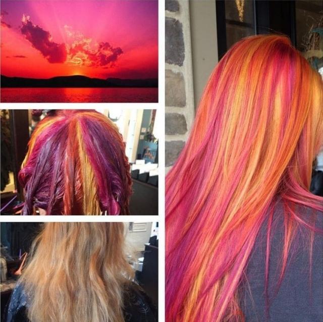 14.Волосы цвета заката