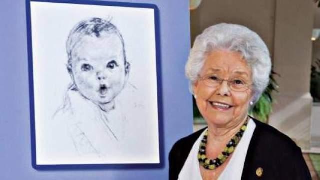 Анна Тернер, реклама детского питания Gerber. Когда Анне Тернер было 5 месяцев, ее портрет отправили на конкурс логотипа компании Gerber. Иллюстрация имела бешеный успех, и уже в 1931 году лицо Анны появилось на каждой упаковке товаров этого нового бренда.