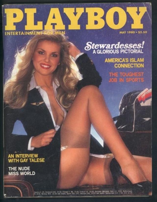 На обложке мужского журнала в 1980 году появилась настоящая стюардесса Эстер Кордет. Ее фото вызвало негодование со стороны работодателя и девушка была уволена из авиакомпании.