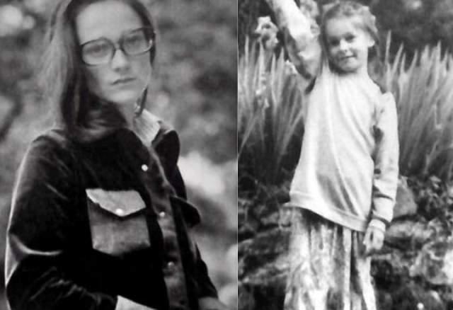 А это одна из жен Андрея Кончаловского, француженка Вивиан Годе. Они прожили вместе с 1969 по 1980 год, а на фото справа - их дочь Александра.