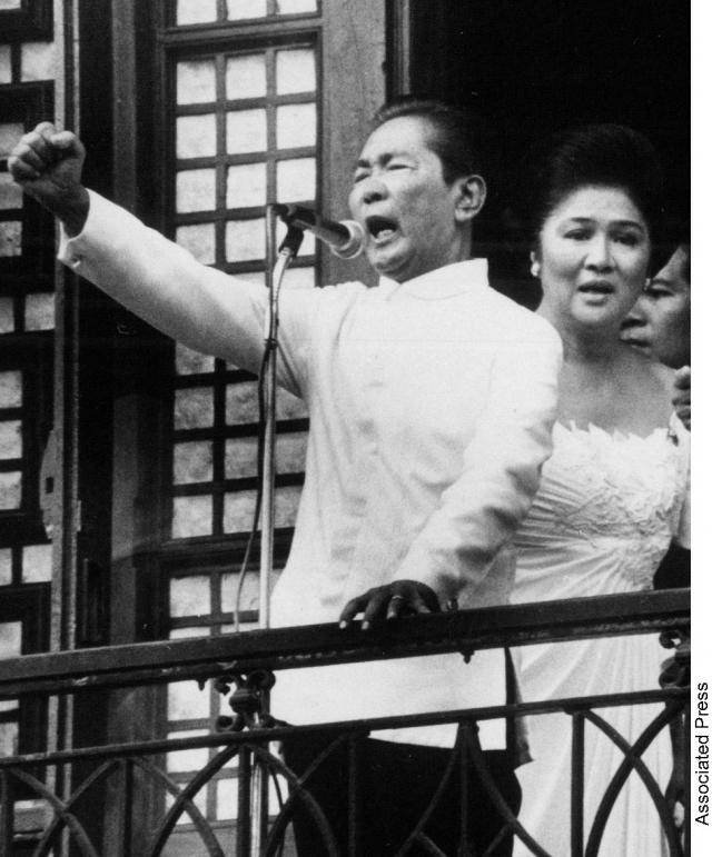 """Фердинанд Маркос - президент Филиппин в 1965—1986 годах, в борьбе за """"счастье народа"""" откровенно злоупотреблявший властью."""