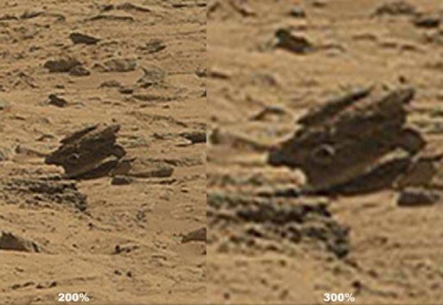 В ноябре 2012 года ученые обнаружили странный, как будто ржавый предмет, похожий на шкив или на колесный диск грузовика.