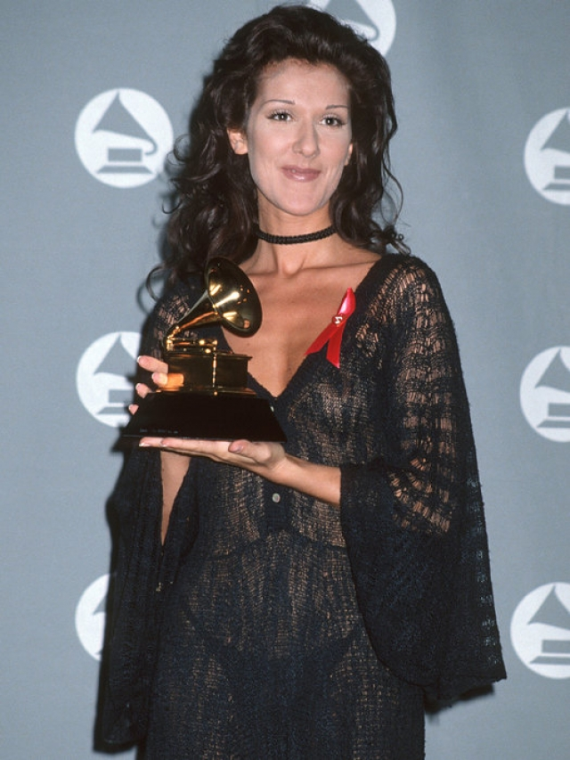 "А это наряд Селин Дион на премии ""Грэмми"" в 1993 году."