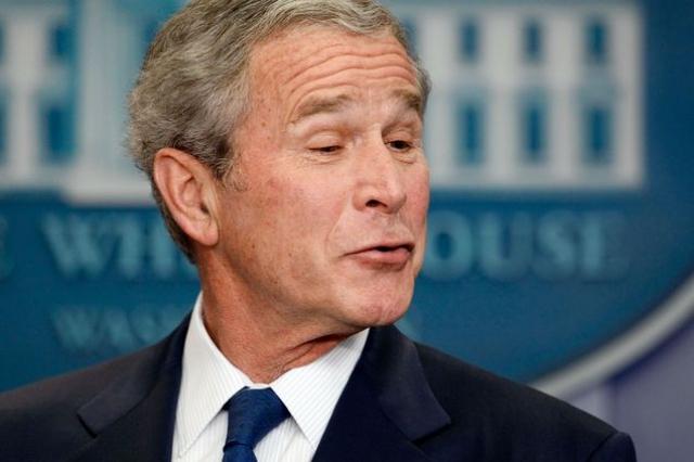 Путешествуя по Латинской Америке Буш извинялся, что не знает латинского языка.