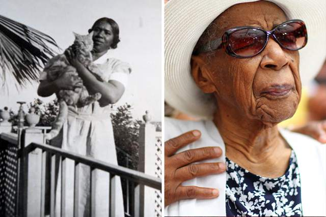 Сюзанна Мушатт Джонс, 6 июля 1899 - 12 мая 2016, прожила 116 лет, 311 дней. Женщина родилась в многодетной семье из 11 детей в Алабаме. В 1923-м она переехала в Нью-Йорк, работала там няней, и на собственные средства перевезла туда всю свою семью.