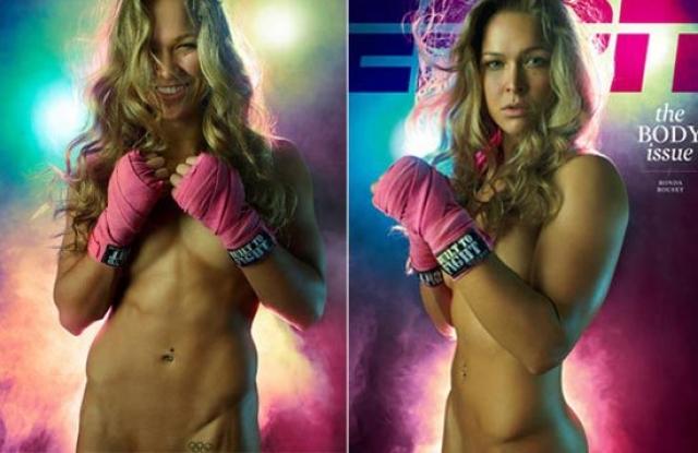 Предположив, что бывшему бойфренду не хватит ума удалить все снимки, Ронда сыграла на опережение. В 2012-м Роузи снялась обнаженной для обложки ESPN Body Issue.