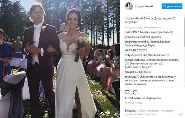 Там же Карпин сыграл и свою свадьбу в 2017 году - с обыкновенной эстонской учительницей.