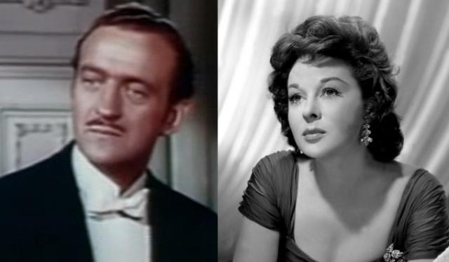 """1959 - Дэвид Нивен (""""За отдельными столиками"""")/Сьюзен Хэйворд (""""Я хочу жить!"""")"""