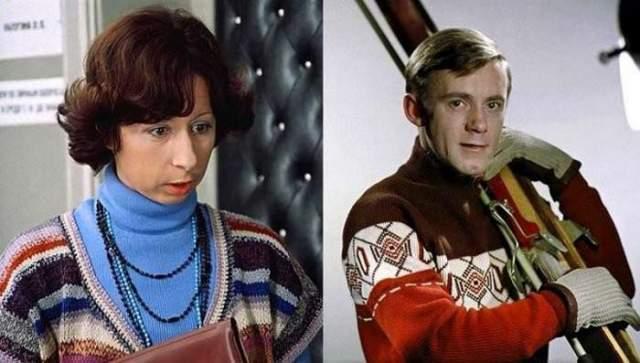 Лия Ахеджакова и Валерий Носик. Актеры познакомились во время работы в ТЮЗе, после чего начался их служебный роман.