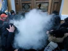 В центре Киева в столкновениях со сторонниками Саакашвили пострадали 60 нацгвардейцев