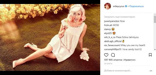 24-летняя певица все еще проводит эксперименты с музыкой, работает и со студиями уровня Disney, и ездит в мировые турне, снимается в кино. Бесплатная самореклама в раскрученном Instagram лишней не будет, и Сайрус часто балует фотоколлажами, снимками без макияжа, из кресла пластического хирурга и т.д.