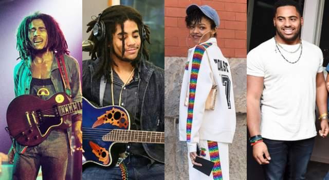 Села, Скип и Нико Марли, внуки Боба Марли. Боб Марли обожал женщин примерно так же сильно, как и музыку. Поэтому неудивительно, что у музыканта было 11 детей — и только пятеро из них от законной супруги.