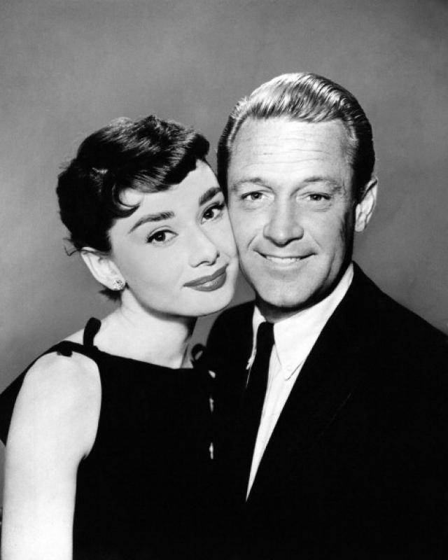 """Во время съемок ленты """"Сабрина"""" у Одри Хепберн завязались романтические отношения с партнером по съемкам Уильямом Холденом."""