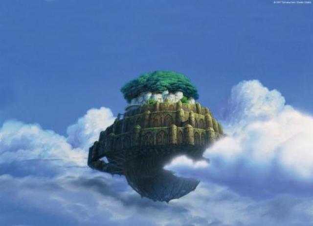 Пока же самый известный парящий город можно увидеть лишь в японском полнометражном мультфильме «Небесный замок Лапута».