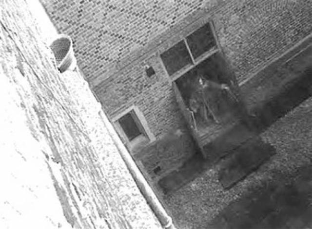 Эта фотография была сделана во Дворце Хэмптон Корт в Англии в 2003 году. По данным экспертов, изображение призрака у двери не является фотомонтажом.