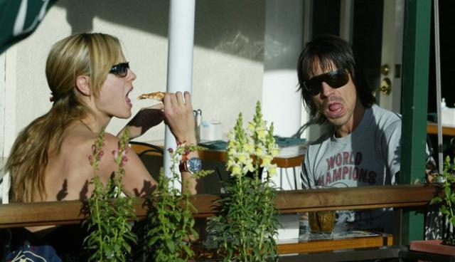 """Энтони Кидис и Хайди Клум. Модель и вокалист группы """"Red hot chili peppers"""" встречались также в 2002, ничего серьезного не вышло."""