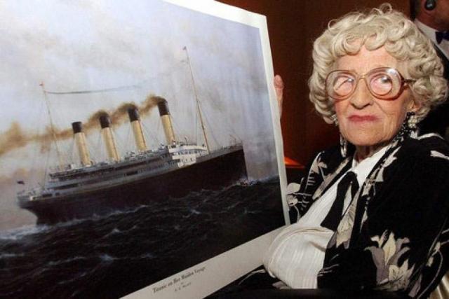 """Миллвина Дин была последней из выживших пассажиров """"Титаника """": она умерла 31 мая 2009 года в возрасте 97 лет в доме престарелых в хэмпширском Эшурсте в 98-ю годовщину спуска лайнера на воду."""