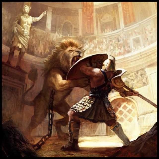 Коммод стал единственным императором, который вышел на арену амфитеатра как боец с дикими зверями и как гладиатор, и не однажды: по свидетельству биографа Комода тот выступал на арене как гладиатор 735 раз!!!
