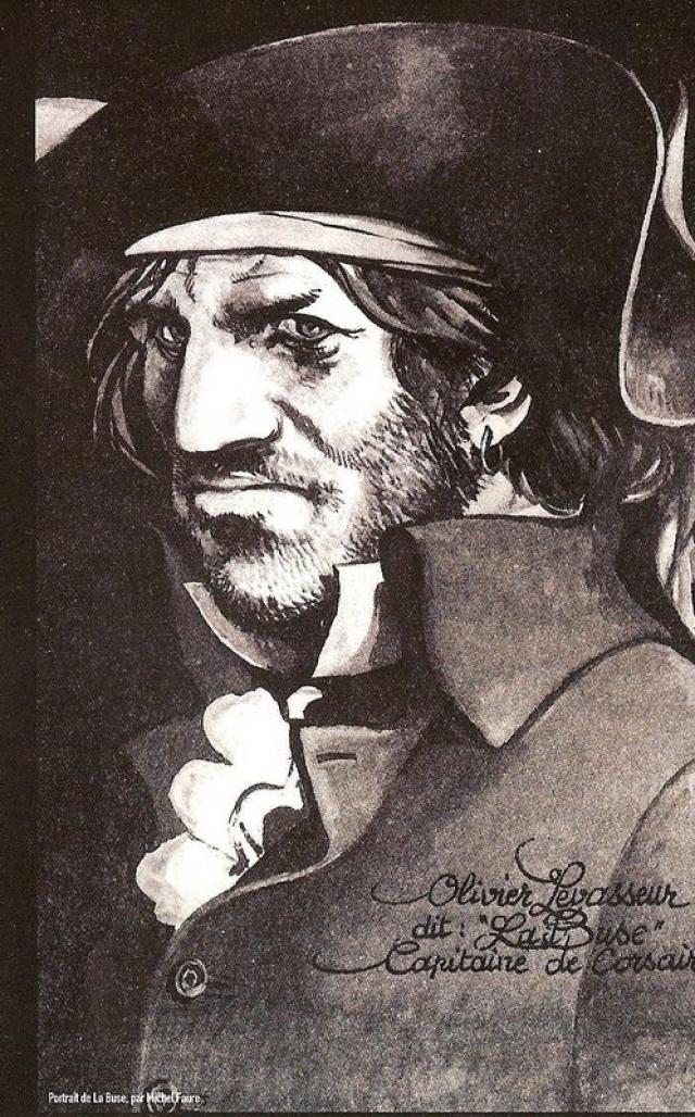 """Оливье (Франсуа) ле Вассер . Самый известный французский пират носил прозвище """"Ла блюз"""", или """"канюк"""". Нормандский дворянин превратил остров Тортугу (сейчас Гаити) в неприступную пиратскую крепость под своим командованием."""