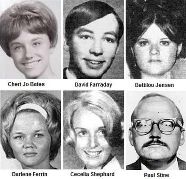 Нападениям подверглись четверо мужчин и три женщины в возрасте от 16 до 29 лет. Пятеро погибли, двоим удалось выжить.