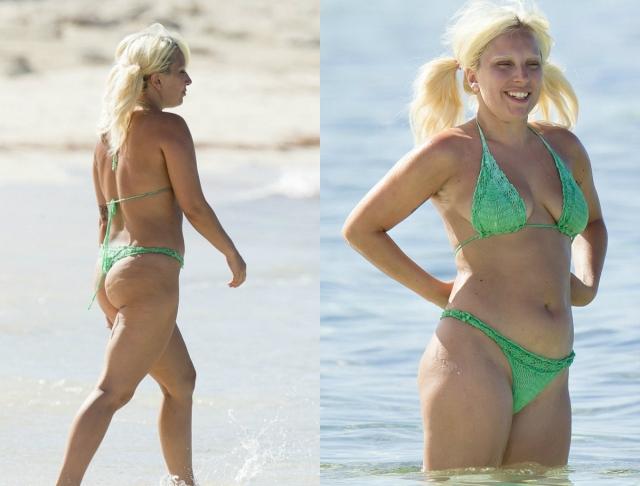 Эксцентричная Леди Гага страдает перепадами веса. Эти снимки сделаны как раз в период его набора...