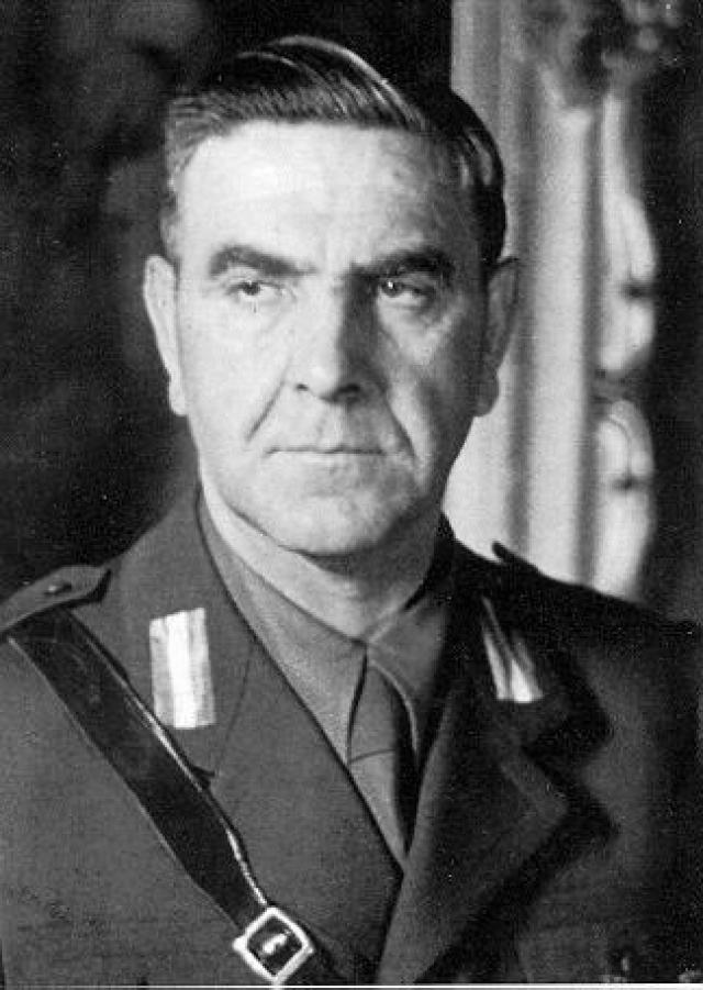 Анте Павелич. Хорватский политический и государственный деятель радикального националистического направления, основатель и лидер фашистской организации Усташей.