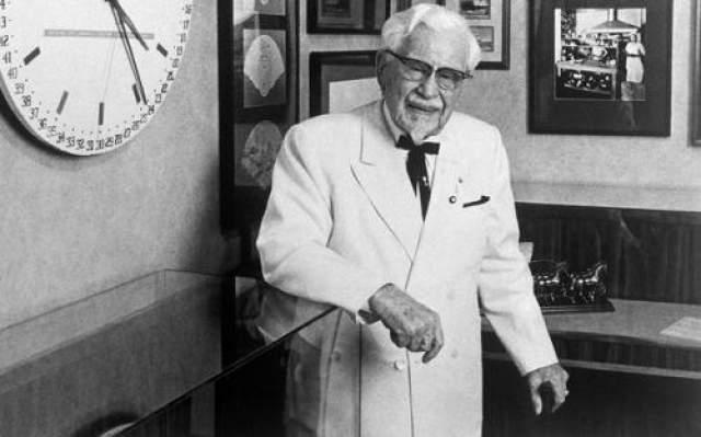 Харланд Дэвид Сандерс Сандерс, символ KFC, никому не мог продать своих цыплят. Он получил отказы от более 1000 ресторанов. Но потом владельцы одного согласились, и теперь его портрет красуется на вывесках ресторанов KFC по всему миру.