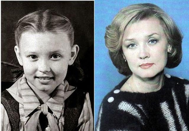 """Такой в пионерском детстве была будущая звезда картины """"Москва слезам не верит"""" Вера Алентова ."""