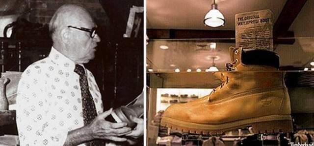 """В 1965 году он придумал революционный способ бесшовного соединения кожаного верха с резиновой подошвой обуви. Делалось это при помощи пресса. Нитки теперь были не нужны, а это означало, что обувь стала водонепроницаемой. """"Если вы любите Timberland, относитесь к ним как можно хуже"""", — гласил слоган рекламной компании, сопровождавшей выход первой партии ботинок в 1973 году."""
