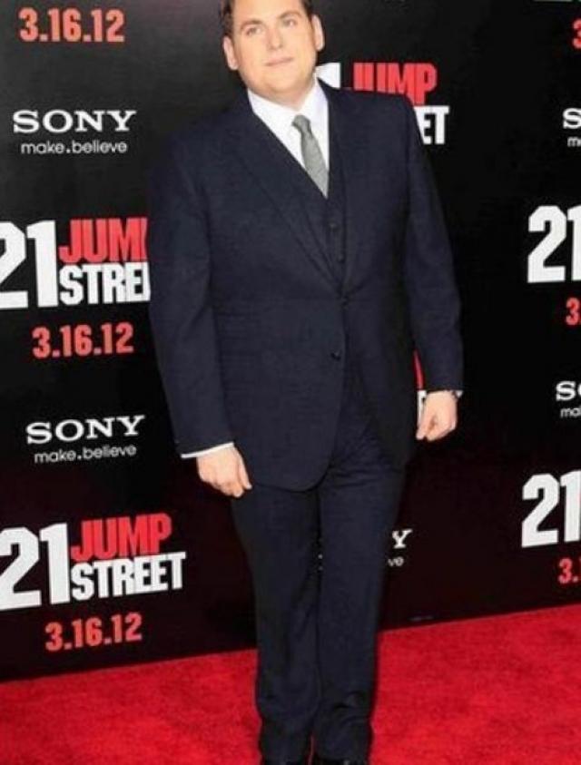 """Джона Хилл. Для роли в фильме """"Мачо и ботан"""" в 2012 году актер похудел на 18 кг."""