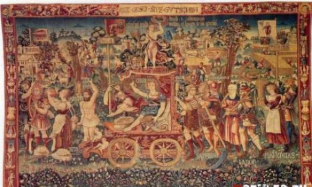 Подобный силуэт появляется и в небе на гобелене 1538 года.