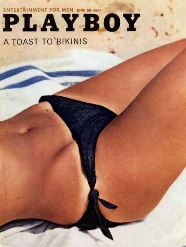 Чем могла вызвать скандал эта обложка Playboy за июнь 1962 года? Особо внимательные заметили, что если прикрыть верхнюю часть картинки, ее нижняя часть будет похожа на промежность женщины с сильно раздвинутыми ногами.