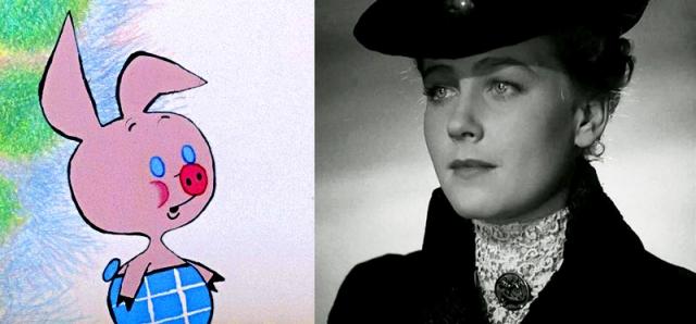 """""""Винни-Пух"""", 1969 год. Пятачок – Ия Саввина."""
