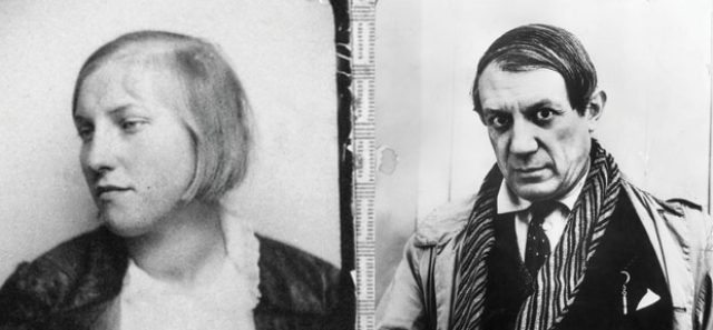 Пикассо и Мария-Тереза Вальтер (разница - 30 лет). В 1927 году художнику было 46, когда он ушел от русской жены Ольги Хохловой к 17-летней девушке.