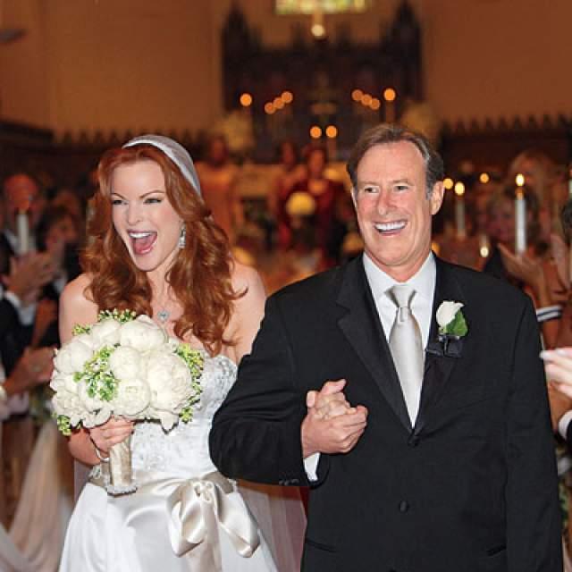 Лишь спустя 10 лет она встретила бывшего боксера Тома Махони, от которого и смогла забеременеть.