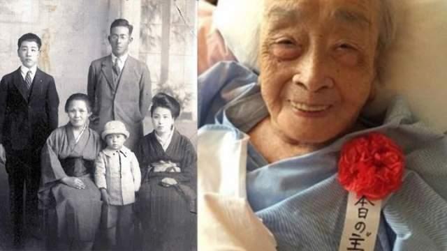 Тиё Мияко, 2 мая 1901 - 22 июля 2018, прожила 117 лет, 81 день. Женщина родилась в Йокогаме, где жила до самой смерти. Но, по словам родственников, Мияко любила путешествовать, в чем ей помогала работа мужа на японских национальных железных дорогах.