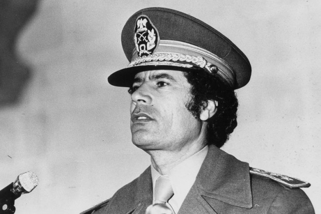 В мире нет единого способа написания имени Каддафи на латинице. Существует больше тридцати транскрипций имени Каддафи. В частности - Gaddafi, Gathafi, Gathafi, Gadafy, Qaddafi и так далее.