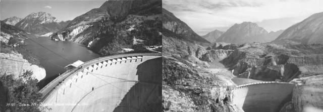 Белоснежный Вайонт по-прежнему нависает над долиной Пьяве, но уже лишь своебразным памятником трагедии.