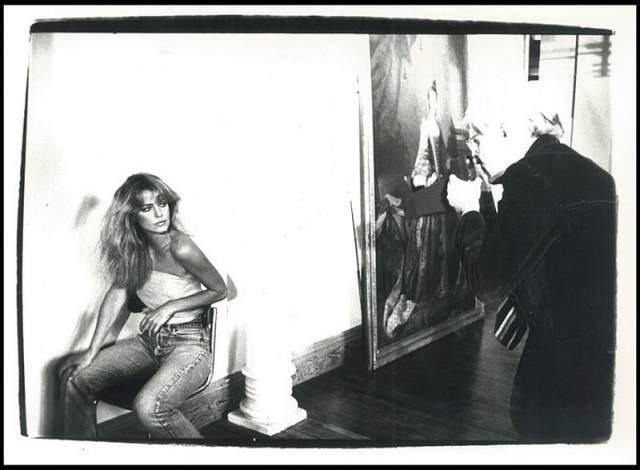 """Актриса Фэрра Фосетт с Энди Уорхоллом. Звезда """"Ангелов Чарли"""" версии 70-х скончалась в 2009 году."""
