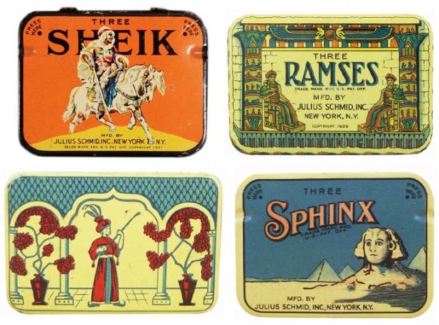 В 1920-х запоминающиеся названия и обращающая на себя внимание упаковка стали все более важной рекламной технологией в продаже многих товаров, в том числе презервативов и сигарет.