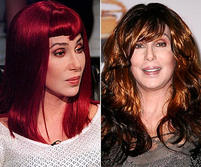 Шер. На протяжении всей своей певческой и актерской карьеры знаменитость носила парики всех размеров и цветов.