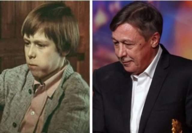 """Михаил Ефремов впервые снялся вместе с отцом, сыграв сына его героя в фильме """"Дни хирурга Шишкина"""" 1977 года."""