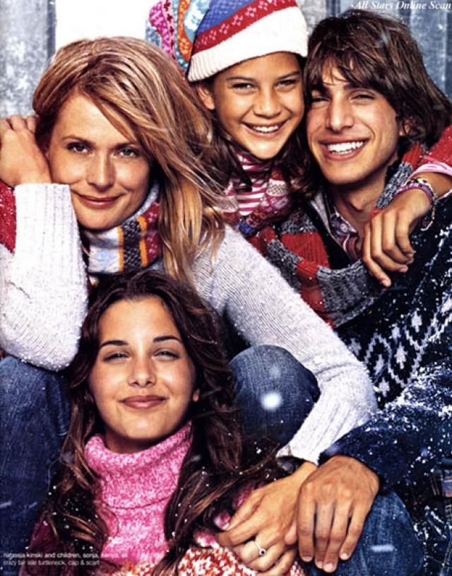 Настасья Кински. Актриса и модель - мать троих детей: двух девочек и мальчика.