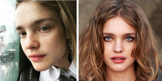 Наталья Водянова. Еще одна российская модель сама время от времени публикует в Инстаграме свои фото без косметики.