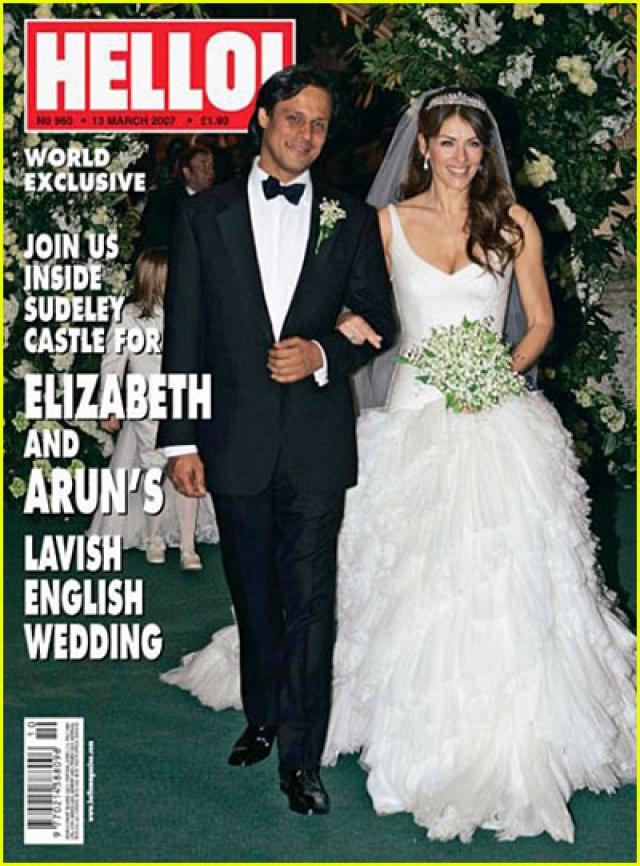 Элизабет Херли и Арун Наяр. Британская актриса вышла замуж за индийского бизнесмена в 2007 году. Свадьба состояла из двух пышных церемоний, которым предшествовало еще и скромное венчание.