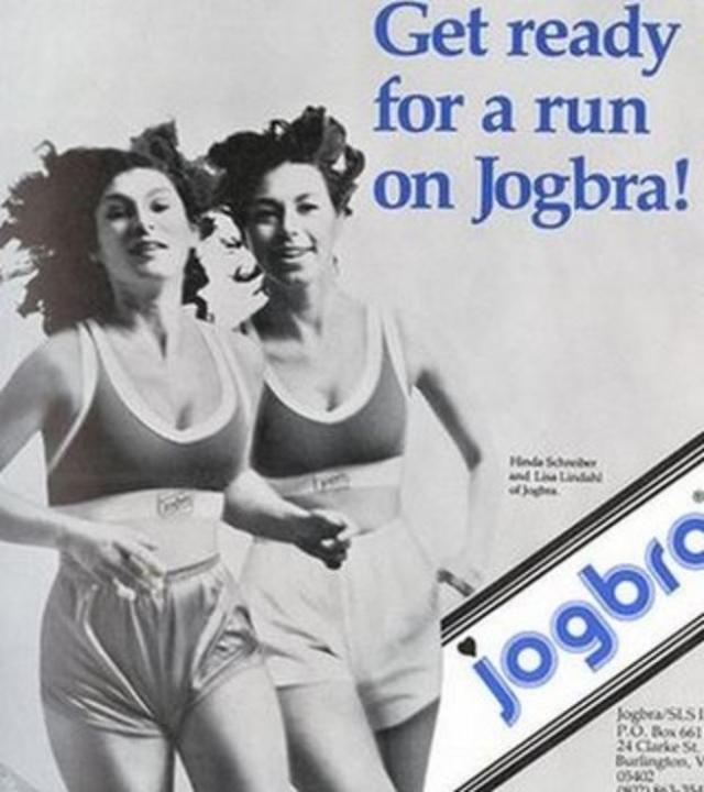 В 1977 году любительницы бега Лиза Линдал, Полли Симт и Хинда Миллер изобрели спортивный поддерживающий топ Jogbra, в том виде, каким мы его себе представляем сейчас.