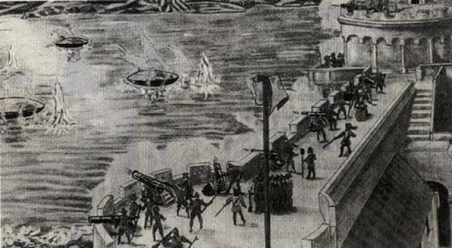 Гравюра 1608 года.