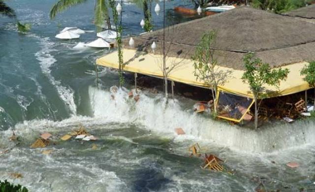 В зависимости от расстояния, время, которое понадобилось цунами, чтобы достичь побережий, было от 50 минут до 7 часов (в случае Сомали). Северные районы индонезийского острова Суматры встретились с цунами очень быстро, а Шри-Ланка и восточное побережье Индии — лишь через время от 90 минут до 2 часов позже. Таиланд также волна настигла на два часа позже.